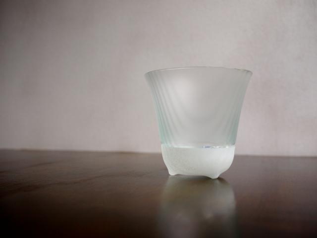 ILE8ガラス しまの器 ショートグラス